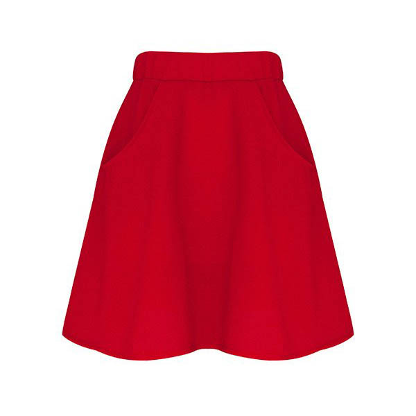 Carrousel Clothing sur Dressing Responsable : jupe Garance, jupe made in France, mini-jupe rouge
