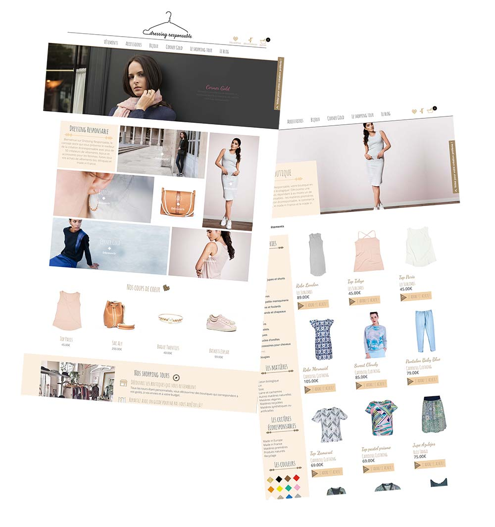 nouvelle version du site Dressing Responsable