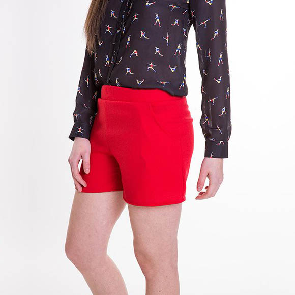 Short Garance rouge Carrousel Clothing made in France
