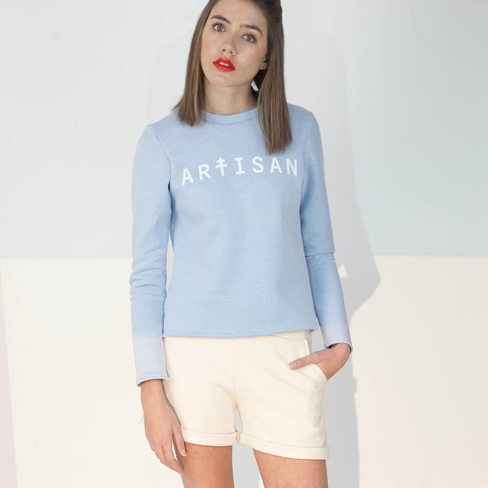 sweat Artisan bleu