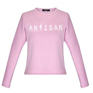 Carrousel Clothing sur Dressing Responsable : sweat Artisan rose pastel made in France
