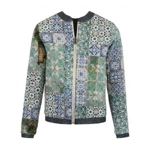 Bleu Tango sur Dressing Responsable : teddy motif azulejos made in Europe