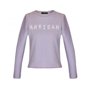 Sweat femme violet. Sweat Artisan violet pastel en molleton de coton de la marque Carrousel Clothing. Made in France.