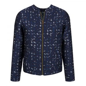 Blouson motif marbring de Bleu Tango made in Europe