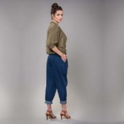 Pantalon Nana en toile denim 100% coton made in France Carrousel Clothing