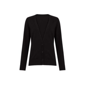Cardigan Lucy noir en laine de la marque de slowfashion People Tree