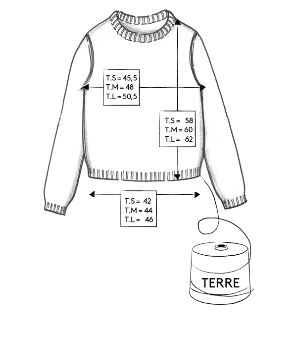 guide des tailles pull Terre