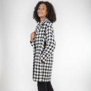 Manteau Candice en laine motif pied de poule coupe oversize et made in France